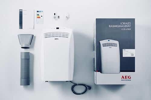 Aire acondicionado portátil AEG accesorios